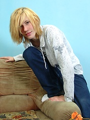 Str8 long-haired teen boy Mark solo relaxing