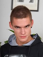 Raw european boy adult casting session