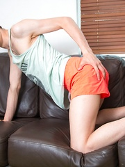 Twink Ass Play Gets His Cock Cumming
