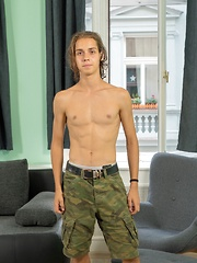 Sexy 19 year old Slovak twink Jake Olsen shows off his cock.