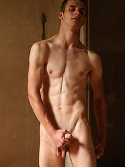 Skinny boy showing his sexy naked body