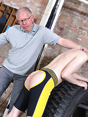 New Twink Spanked Red Raw!