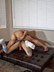 Ross gets bound, edged and fucked